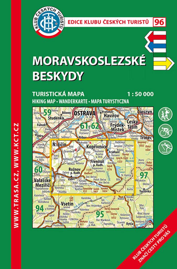 KČT 96 Moravskoslezské Beskydy 1:50 000