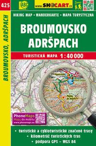 Obrázok Broumovsko Adršpach 1:40 000