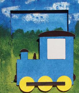 Obrázok Rám malý Vlak
