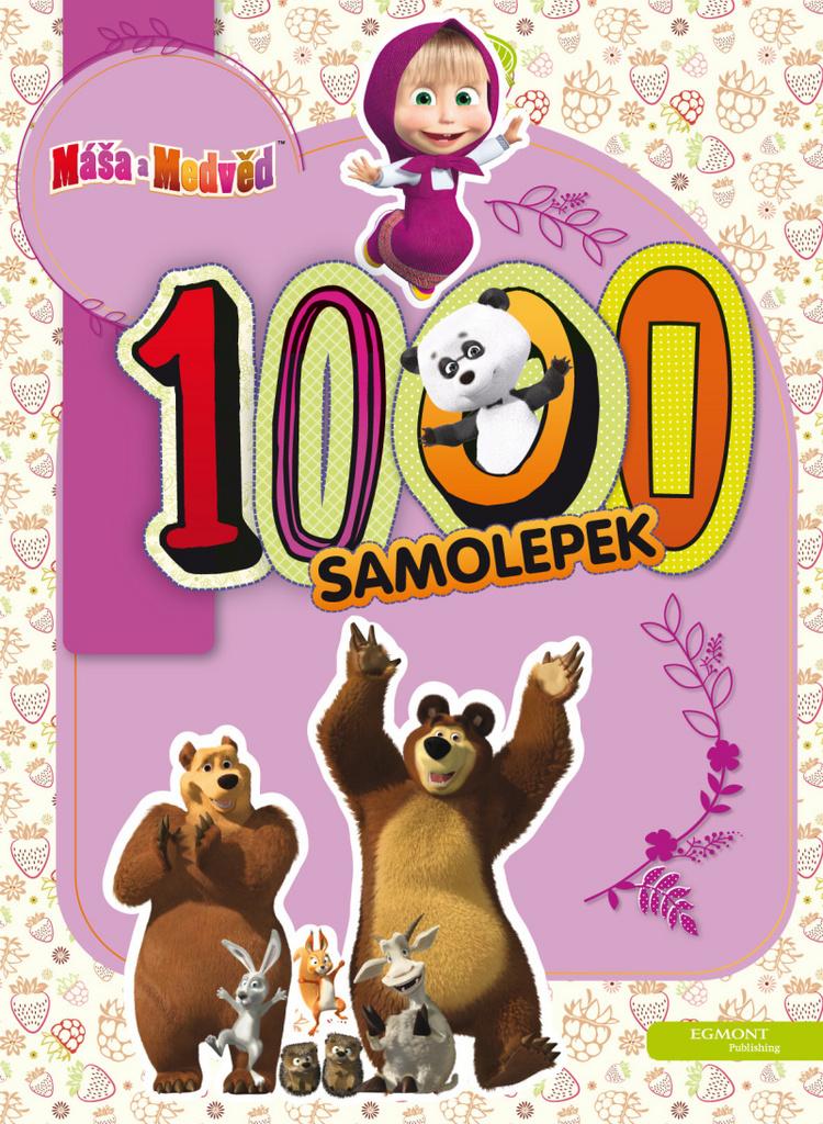 Máša a medvěd 1000 samolepek