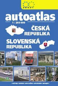 Obrázok Autoatlas Česká republika Slovenská republika 1:240 000