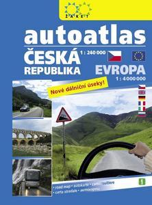 Obrázok Autoatlas ČR 1:240 000 + Evropa 1:4 000 000