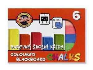Obrázok Souprava křídy školní barevené 6 ks