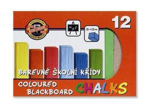 Obrázok Souprava křídy školní barevené 12 ks