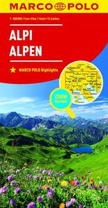 Obrázok Alpy Alpi Alpen 1:800 000