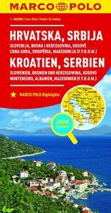 Obrázok Chorvatsko, Srbsko, Slovinsko, Bosna 1:800 000