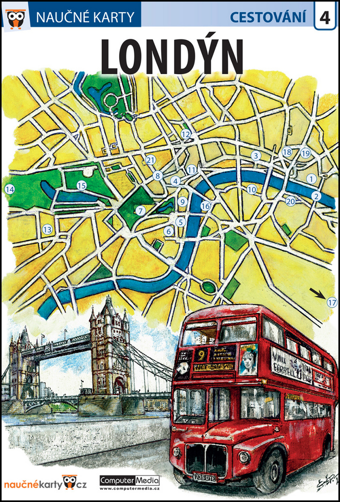 Naučné karty Londýn