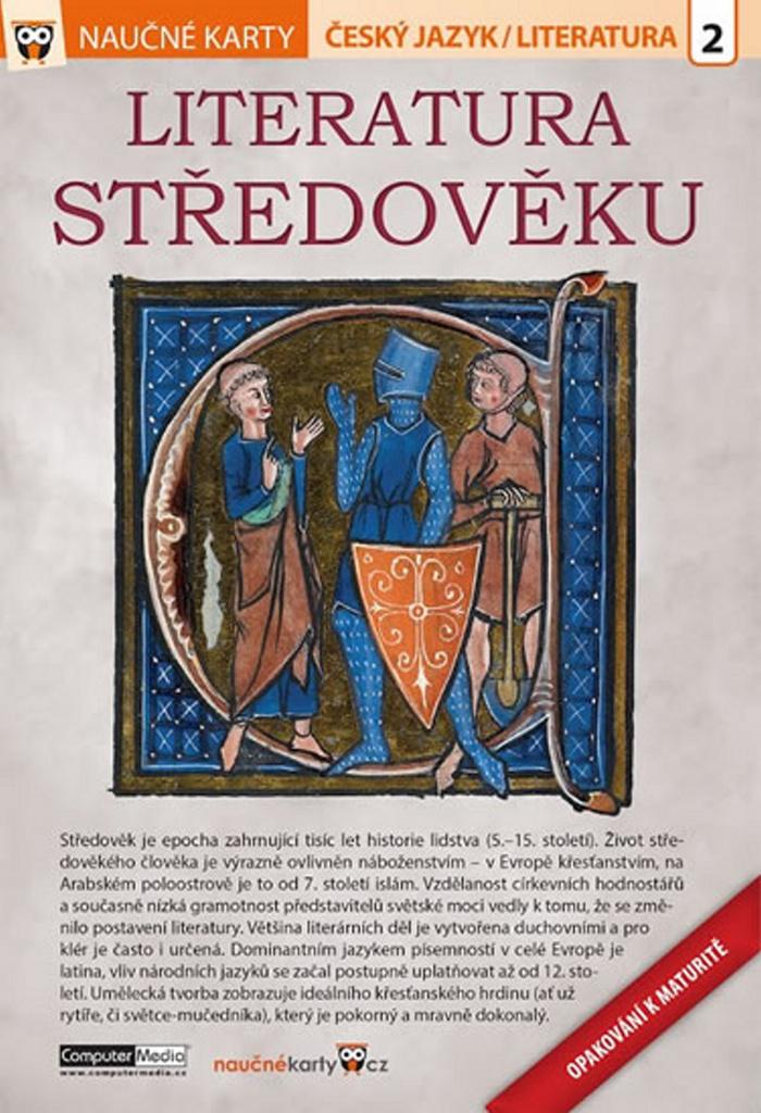 Naučné karty Literatura středověku (Opakování k maturitě)