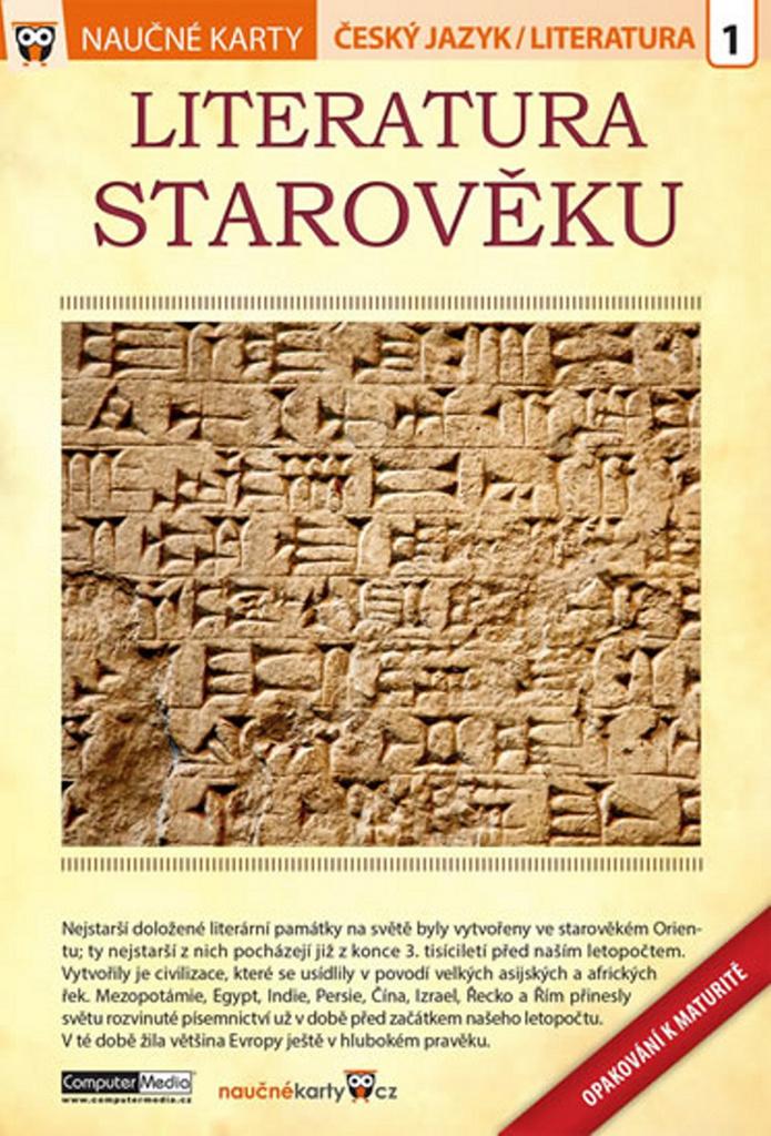 Naučné karty Literatura starověku (Opakování k maturitě)