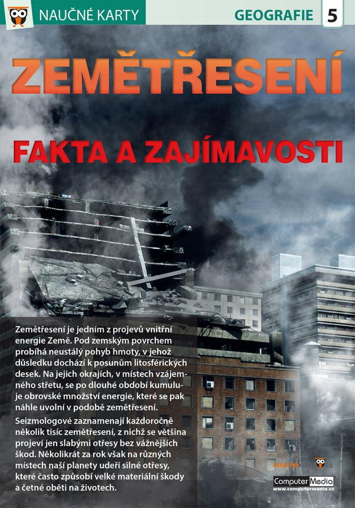 Naučné karty Zemětřesení