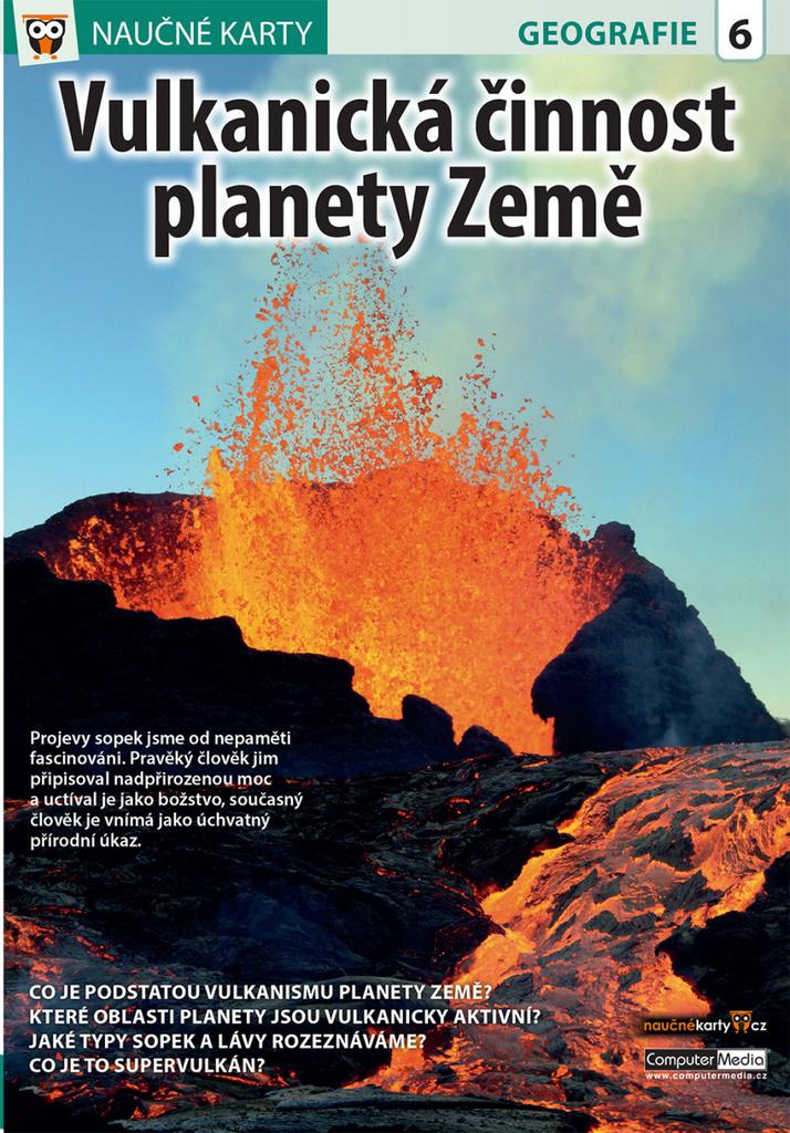 Naučné karty Vulkanická činnost planety Země
