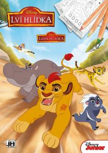 Obrázok Lví hlídka omalovánka