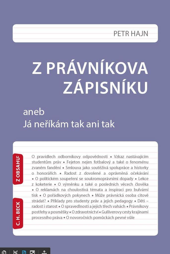 Z právníkova zápisníku - Prof. JUDr. Petr Hajn DrSc.