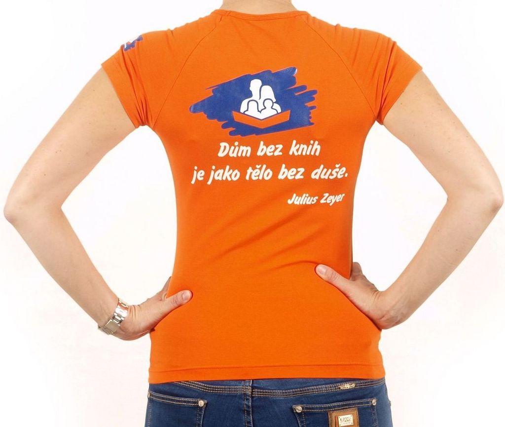 Dámské tričko s citátem oranžové S KNIHCENTRUM.cz