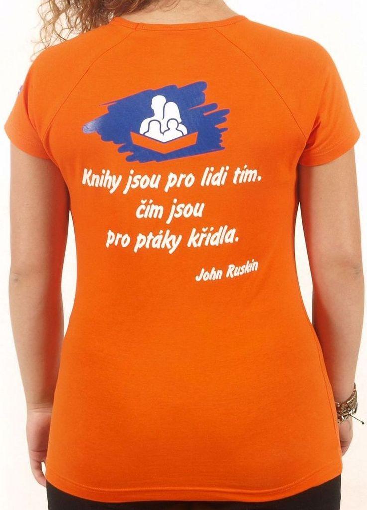 Dámské tričko s citátem oranžové M KNIHCENTRUM.cz