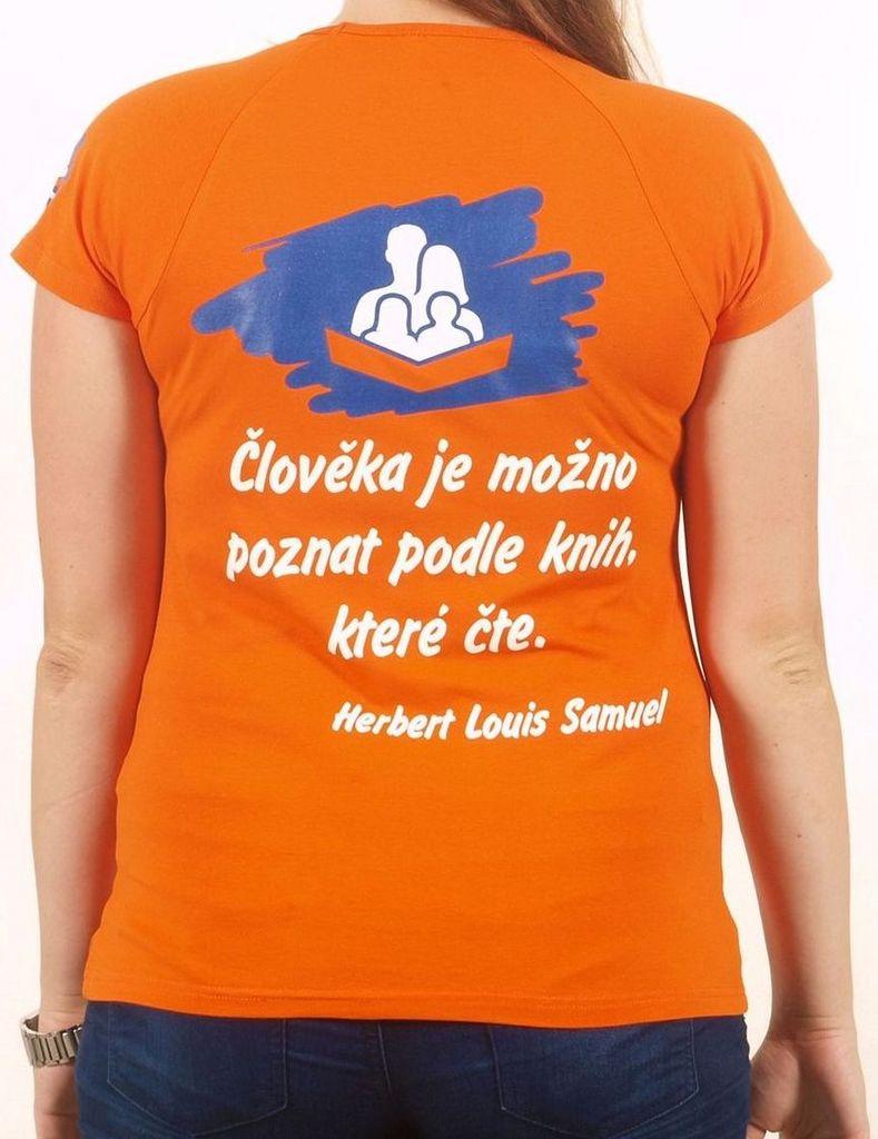 Dámské tričko s citátem oranžové L KNIHCENTRUM.cz
