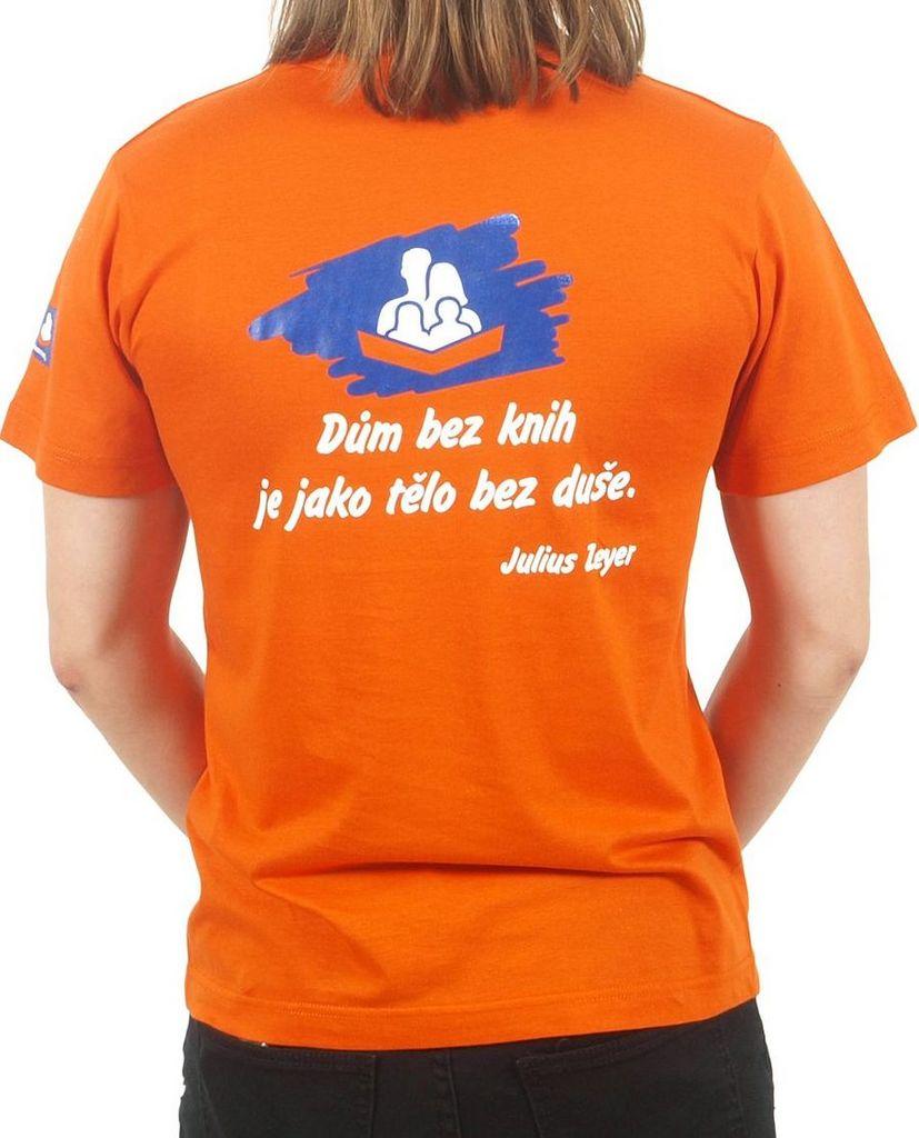 Pánské tričko s citátem oranžové S KNIHCENTRUM.cz