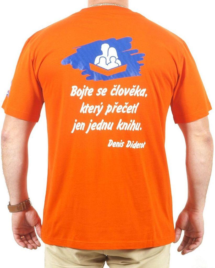 Pánské tričko s citátem oranžové L KNIHCENTRUM.cz