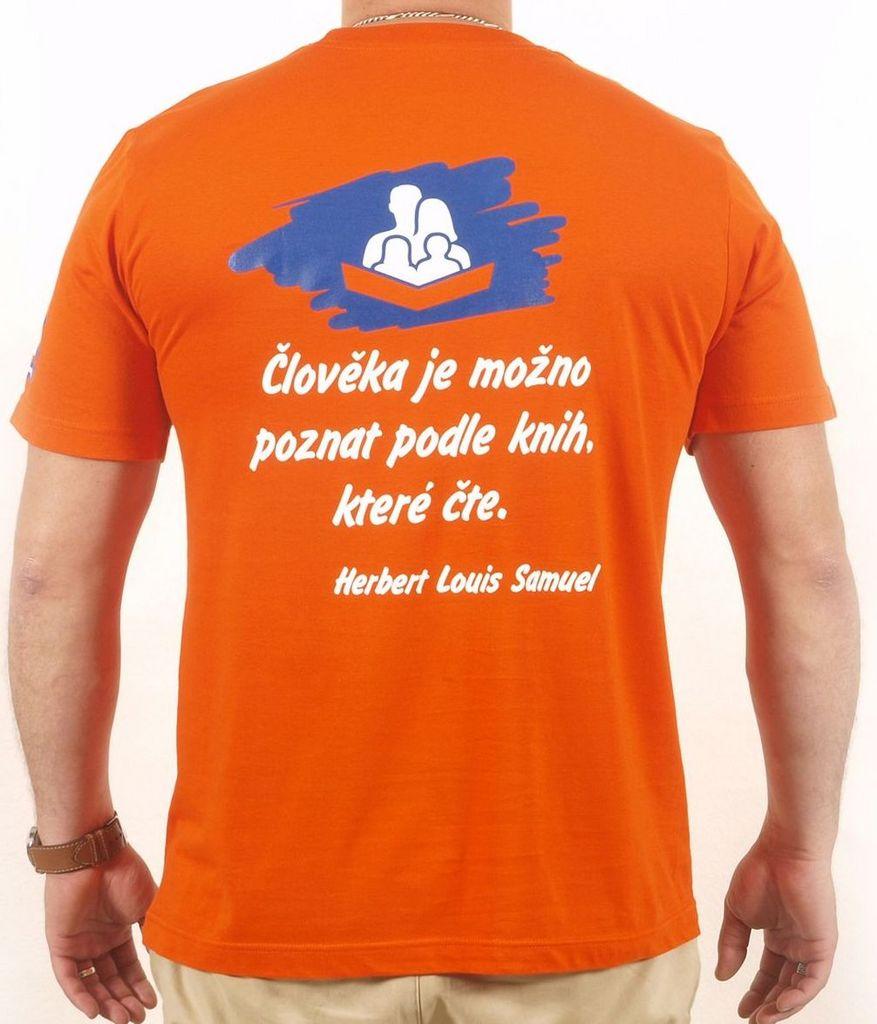 Pánské tričko s citátem oranžové XL KNIHCENTRUM.cz