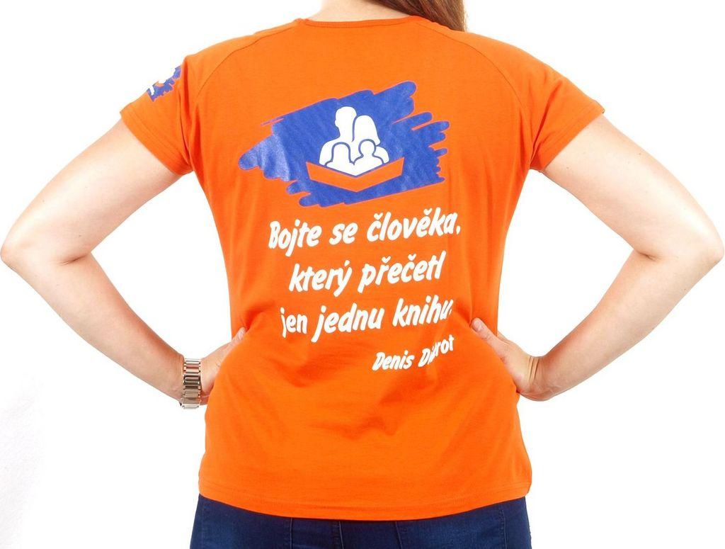 Dámské tričko s citátem oranžové XL KNIHCENTRUM.cz