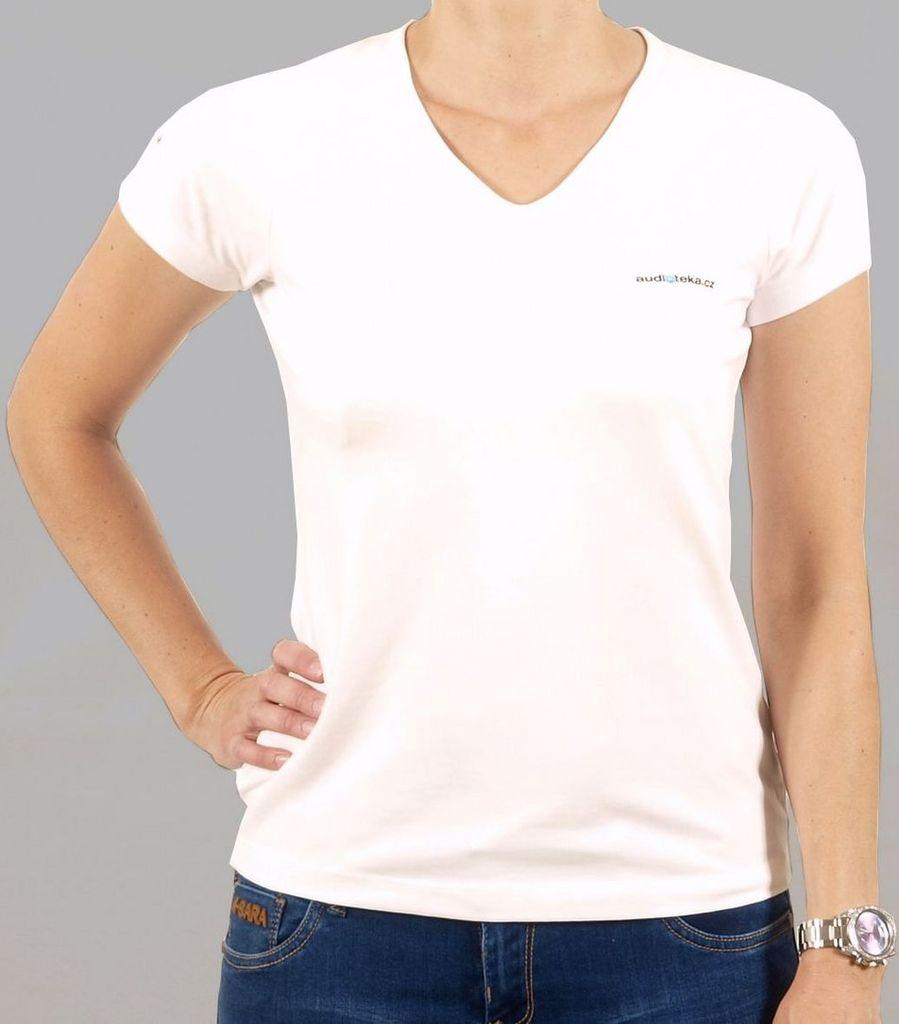 Dámské tričko bílé XS AUDIOTÉKA.cz 1a89a543ab