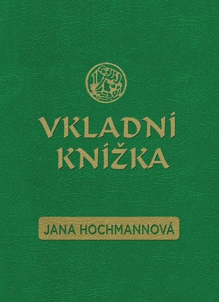 Vkladní knížka - Jana Hochmannová
