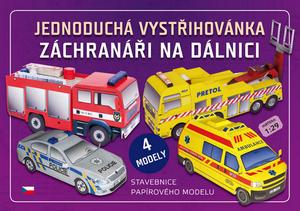 Obrázok Jednoduchá vystřihovánka Záchranáři na dálnici