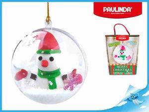 Obrázok Paulinda Merry Christmas baňka se sněhulákem a doplňky