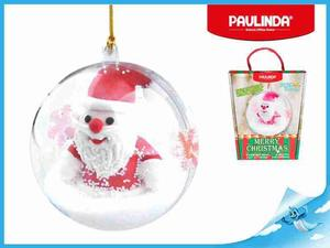 Obrázok Paulinda Merry Christmas baňka s figurkou Santa Claus a doplňky