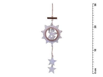 Anděl dřevěný 30cm závěs HW-52887D