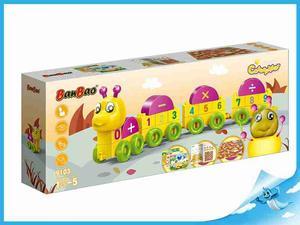 Obrázok BanBao stavebnice Caterpillar Young Ones housenka čísla