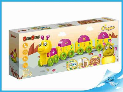 BanBao stavebnice Caterpillar Young Ones housenka čísla
