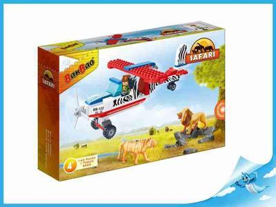 BanBao stavebnice Safari vyhlídkové letadlo + 1 figurkaToBees