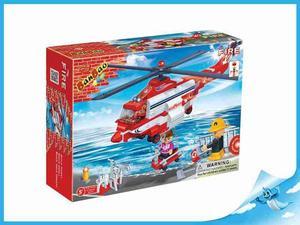 Obrázok BanBao stavebnice Fire hasičský vrtulník + 3 figurky