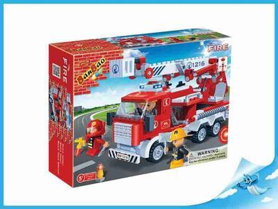BanBao stavebnice Fire hasičské auto  + 3 figurky ToBees