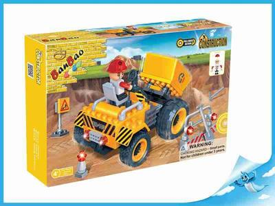 BanBao stavebnice Construction auto kontejnerové + 1 figurka