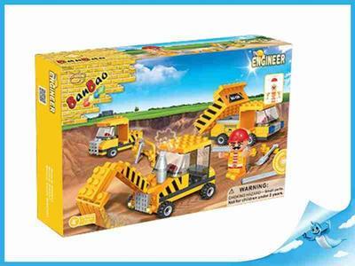 BanBao stavebnice Construction stavební vozidla + 1 figurka ToBees