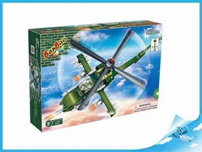BanBao stavebnice Defence Force bitevní vrtulník + 1 figurka ToBees
