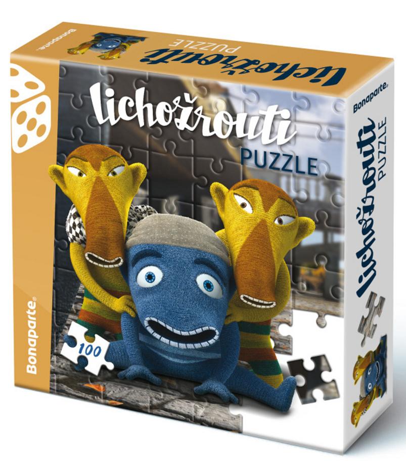 Puzzle v krabici 100 Lichožrouti Hihlík a kamarádi