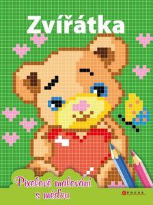 Zvířátka Pixelové malování s méďou