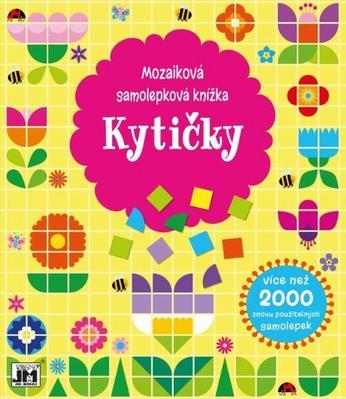 Mozaiková samolepková knížka Kytičky