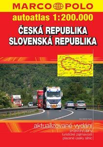 Obrázok Autoatlas Česká republika Slovenská republika 1:200 000