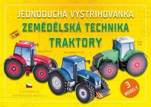 Obrázok Jednoduchá vystřihovánka Zemědělská technika Traktory