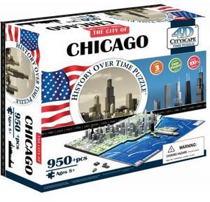 Obrázok 4D City Puzzle Chicago