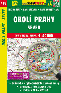 Obrázok Okolí Prahy - sever 1:40 000