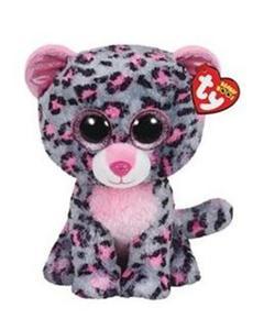 Obrázok Plyš očka střední růžovo-šedý leopard