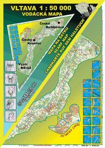 Obrázok Vltava 1 : 50 000 Šátek s mapou