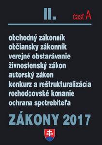 Obrázok Zákony 2017 II. časť A