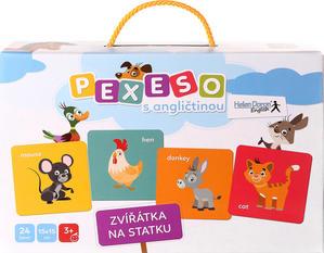 Obrázok Pexeso s angličtinou Zvířátka na statku