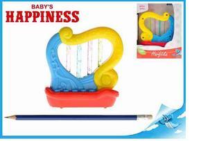 Obrázok Harfička 11cm na baterie s melodiemi a světlem